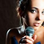 belle chanteuse — Photo