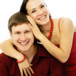 Couple dressed in red — Stock Photo #1828752