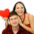 Cheerful young woman and her husband - Foto de Stock