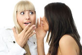 Gossiping girls — Stock Photo