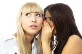 Young gossiping women — Stock Photo