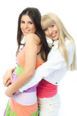 Embracing friends — Stock Photo