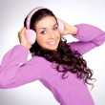 Pretty girl with earmuff — Stock Photo
