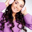 Pretty girl with earmuff - Foto de Stock