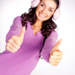 Girl with thumbs up — Stock Photo #1847246