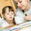 Mother and daughter reading a book — Stock Photo #1871260