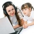 Royalty-Free Stock Photo: Mother and daughter with a laptop