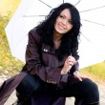 Woman with an umbrella — Stock Photo