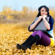 Royalty-Free Stock Photo: Girl with a laptop outdoor