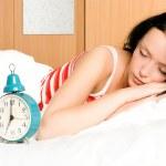 Pretty woman sleeping — Stock Photo