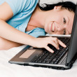 Girl with a laptop — Stock Photo #1872419