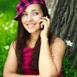 Girl talking on the cellphone — Stock Photo