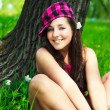 Pretty girl in the park — Stock Photo