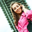 Woman with a cellphone — Stock Photo