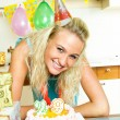 Girl celebrating birthday - ストック写真