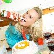 Royalty-Free Stock Photo: Woman celebrating her birthday