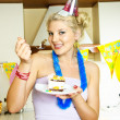 Happy girl celebrating birthday - Stock Photo