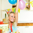 Girl celebrating birthday - Stock fotografie
