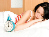 Pretty woman sleeping — Stock Photo