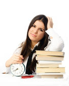 Student unwilling to do homework — Stock Photo