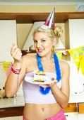 Happy girl celebrating birthday — Stock Photo