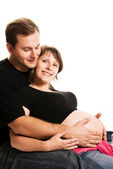 Happy young couple waiting for a baby — Stock Photo