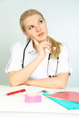 Thoughtful doctor — Stock Photo