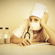 Doctor with medications — Stock Photo