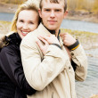 Happy couple outdoor - Stock Photo