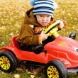 Boy driving a car — Stock Photo
