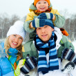 Happy family outdoor — Stock Photo #1891089