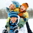 Happy family outdoor — Stockfoto