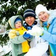 Happy family outdoor — Stock Photo