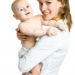 Beautiful mother with her baby — Stock Photo