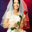 Bride with a rose — Stock Photo #1893924