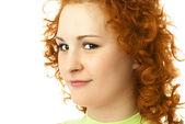 женщина с волосами, имбирь — Стоковое фото