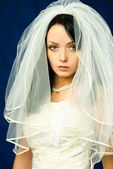 Melancholic bride — Stock Photo