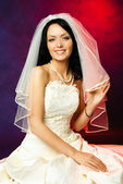 Sexy brunette bride — Stock Photo