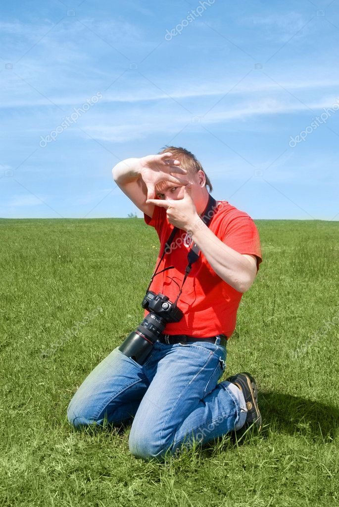 Young photographer outdoor  Stock Photo #1891935