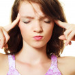 Woman suffering from headache — Stock Photo #1900991