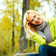 Pretty woman in the park — Stock Photo