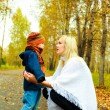Стоковое фото: Mother talking to her son