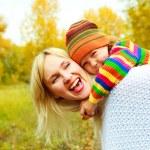 lycklig mor och son — Stockfoto