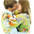 Stock Photo: Kissing young couple