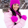 Pretty girl outdoor - Stock Photo