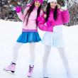 Two girls ice skating — Stock Photo #1904056