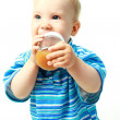 Baby drinking juice — Stock Photo