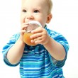 Baby drinking juice — Stock Photo #1905274