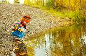 Boy near the lake — Stock Photo