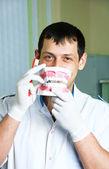 Cheerful dentist — Stock Photo